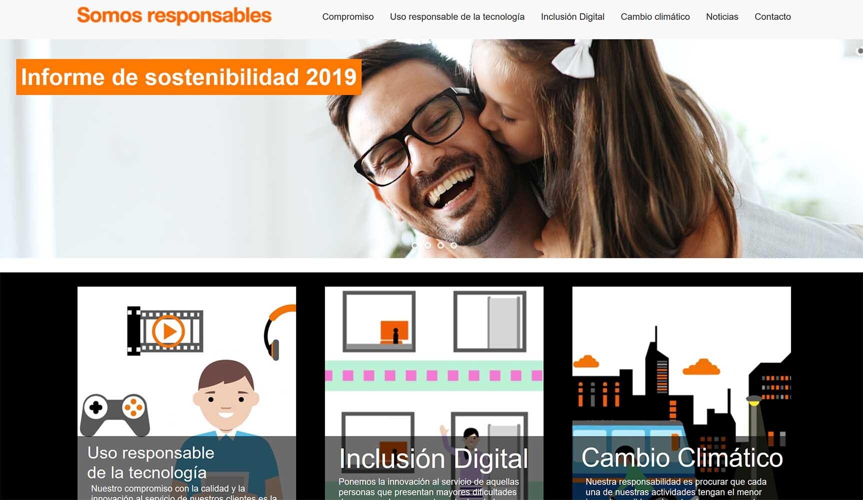 orange RSC. Informe de sostenibilidad