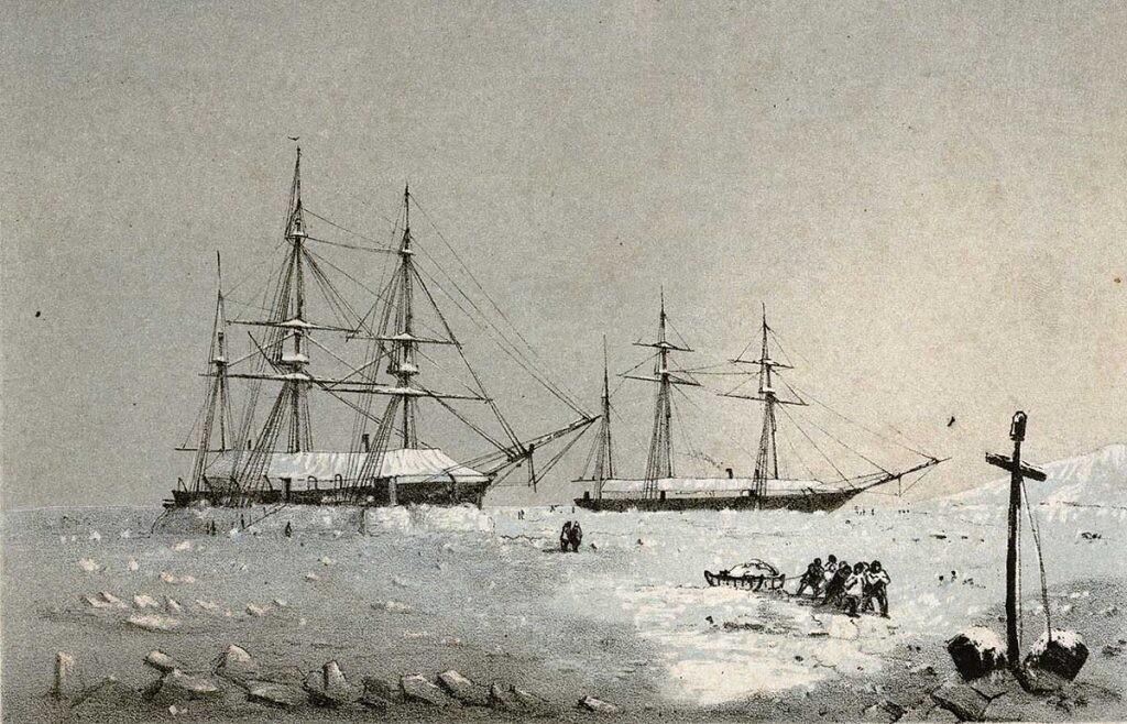 el Resolute atrapado en el hielo