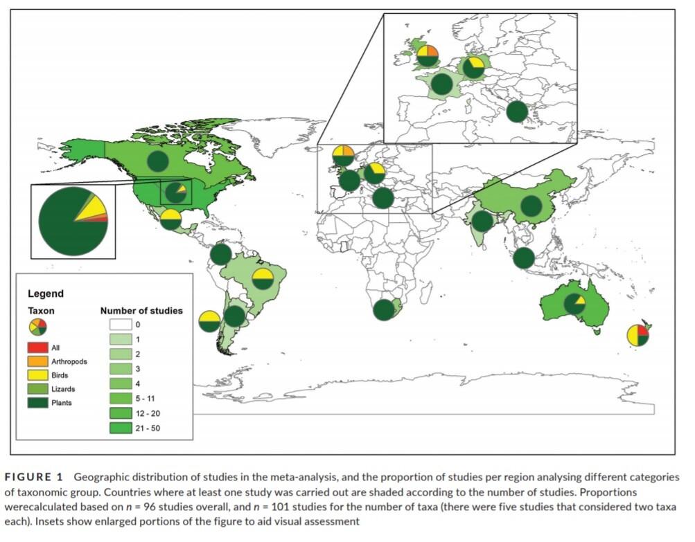 mapa analisis biodiversidad en ciudades