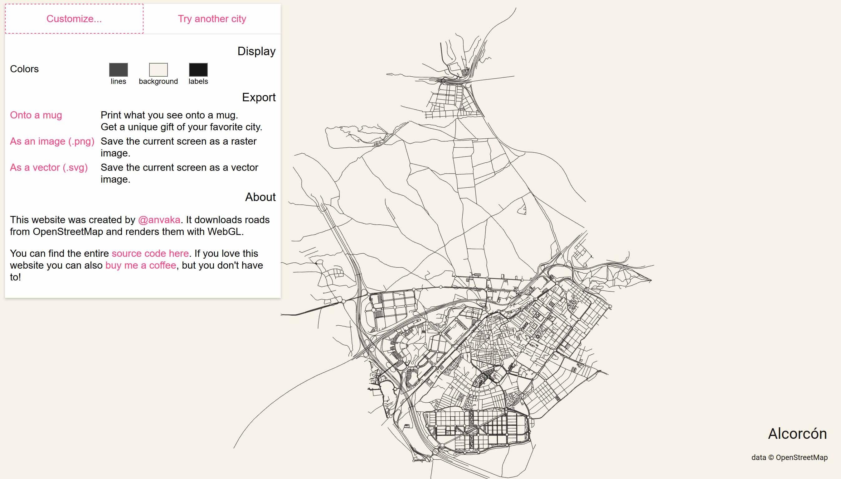 Mapa ciudad Alcorcón