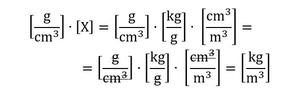 cambio de unidades como calcular la densidad