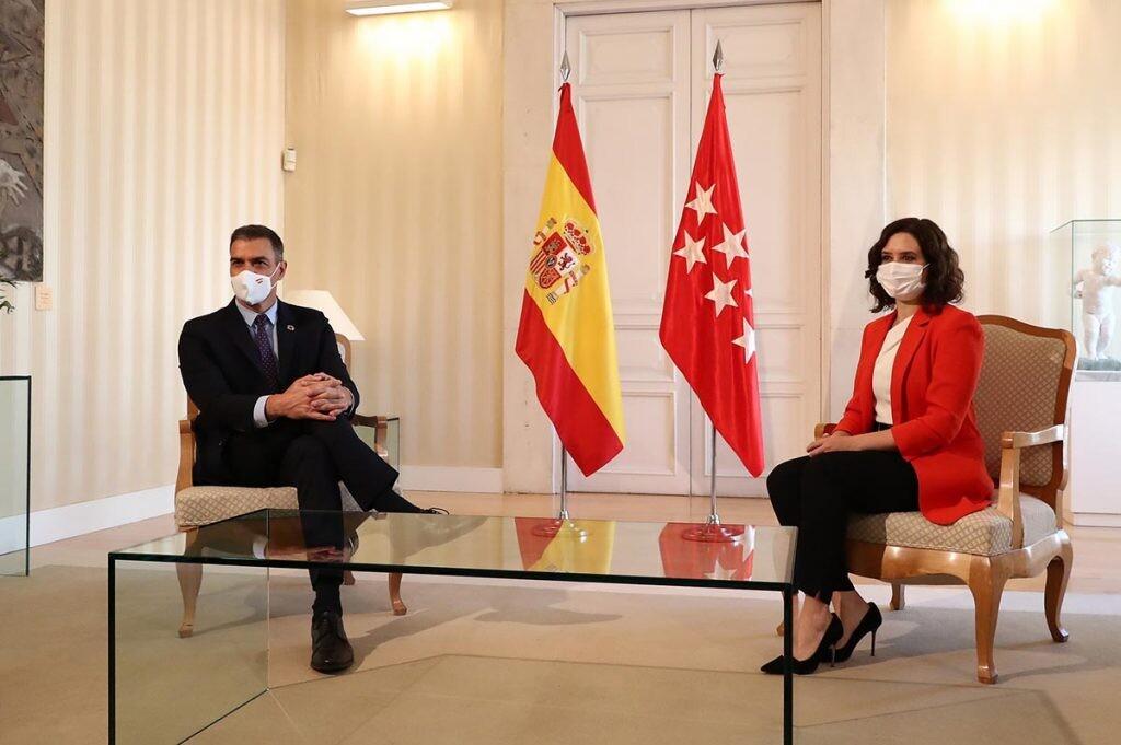 reunión entre Sánchez y Ayuso