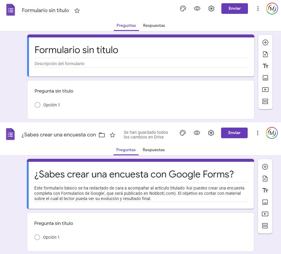 crear una encuesta de google formularios - paso 1 - crear una encuesta en blanco