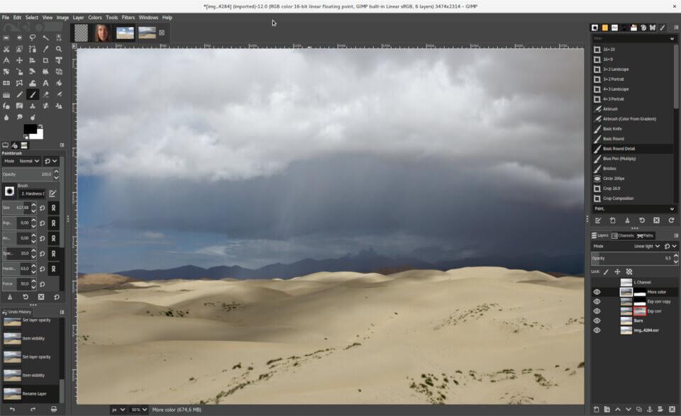 El editor fotográfico GIMP