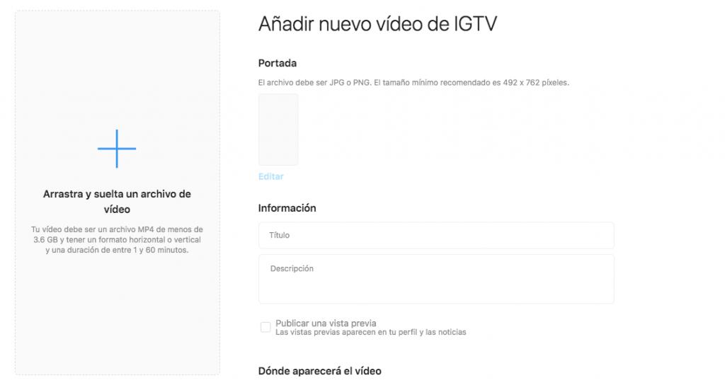 IGTV en web