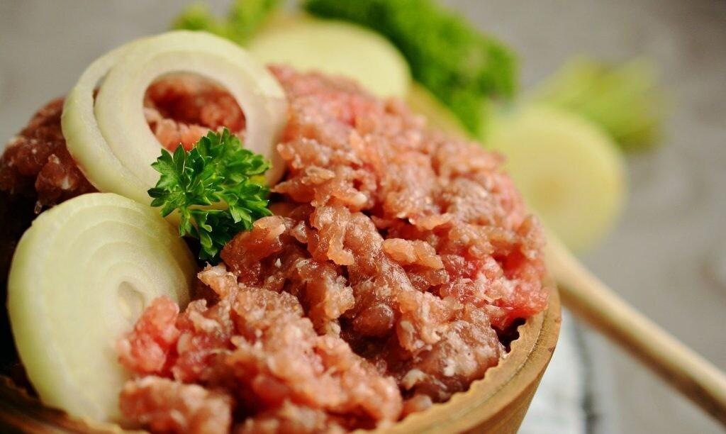Carne picada-alimentación