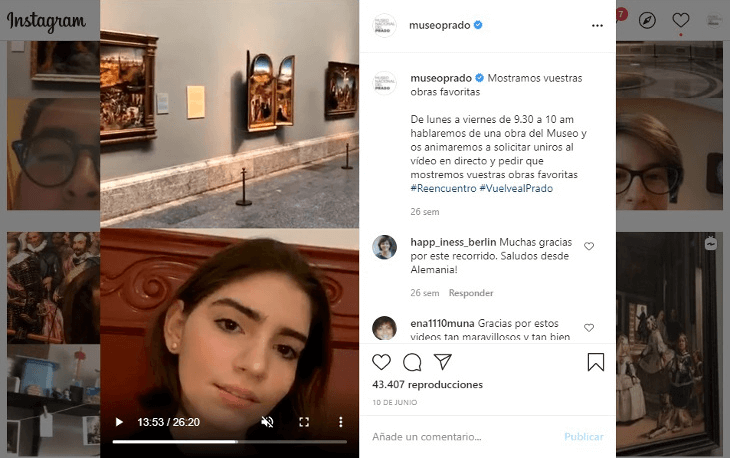 Museo del Prado en Instagram