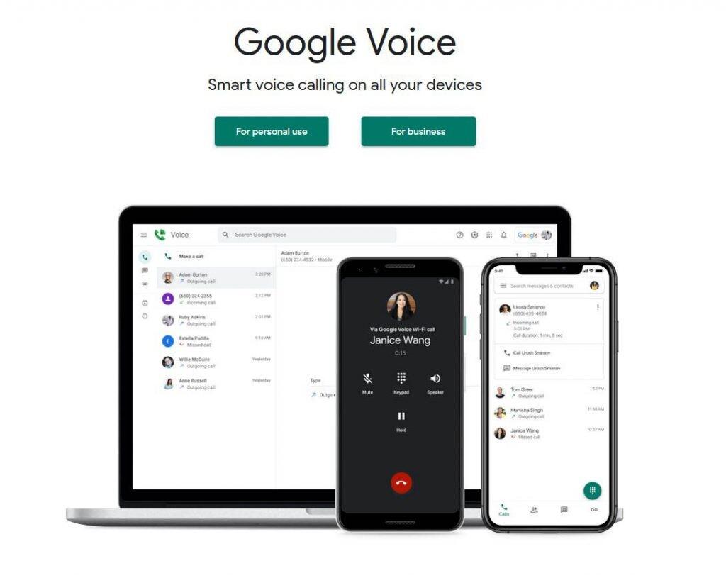 pltaforma de Google Voice