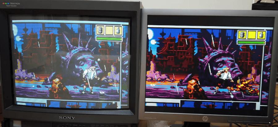CRT vs LCD pantallazo