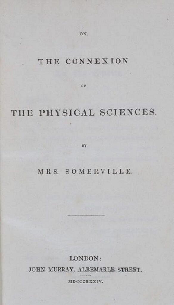 Sobre la conexión de las ciencias físicas. Libro de Mary Somerville