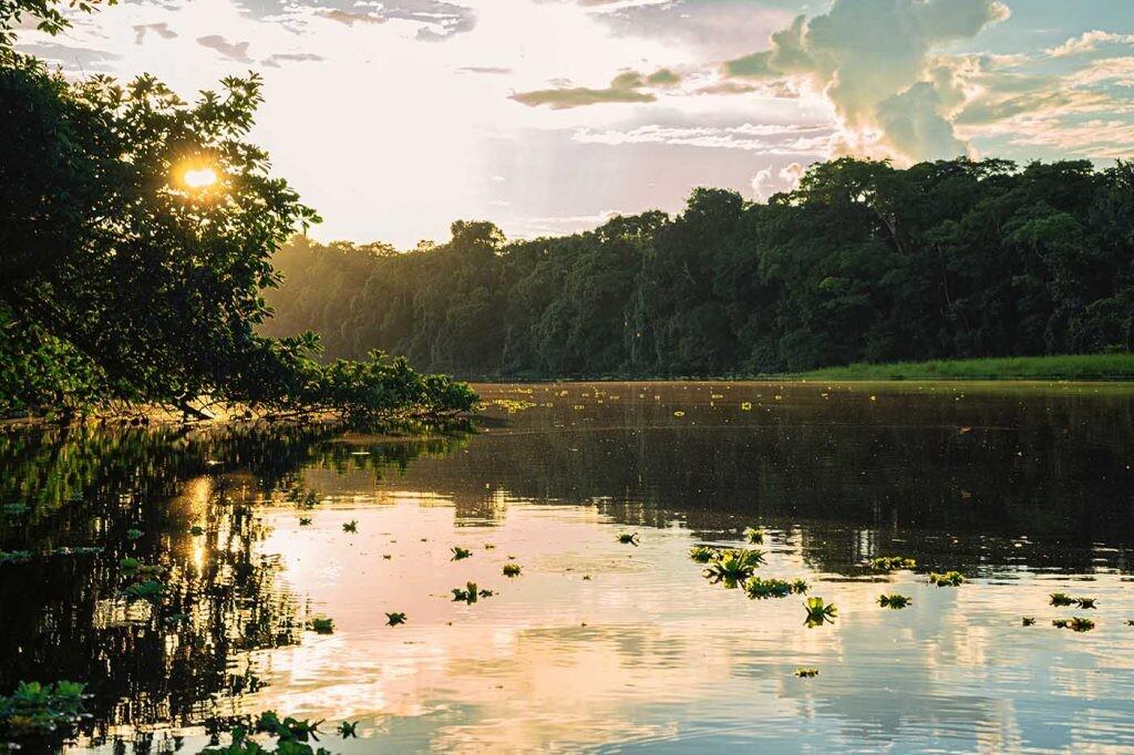 lago del Amazonas en Ecuador