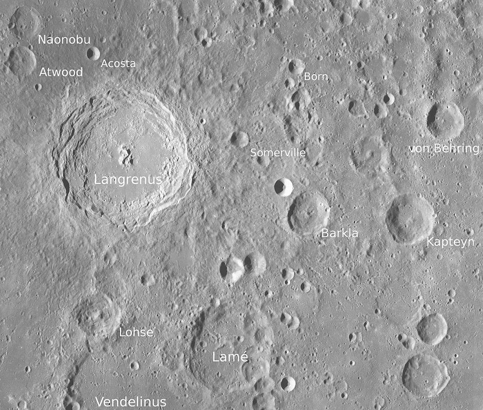 Cráter lunar Somerville- homenaje póstumo a Mary Somerville
