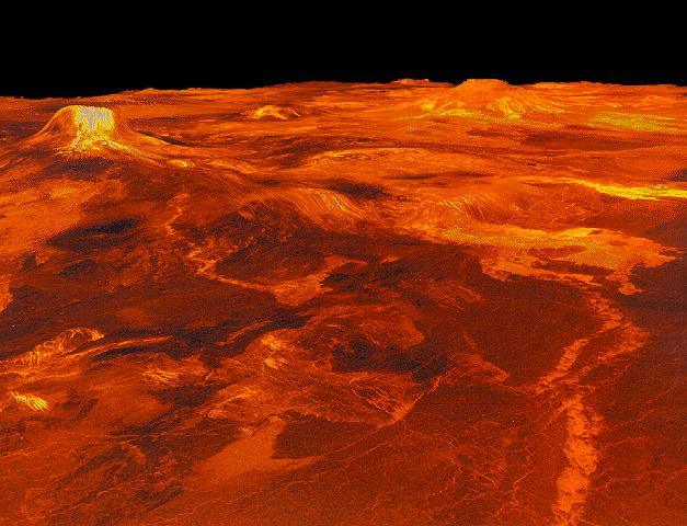 imagen obtenida por Magallanes en Venus