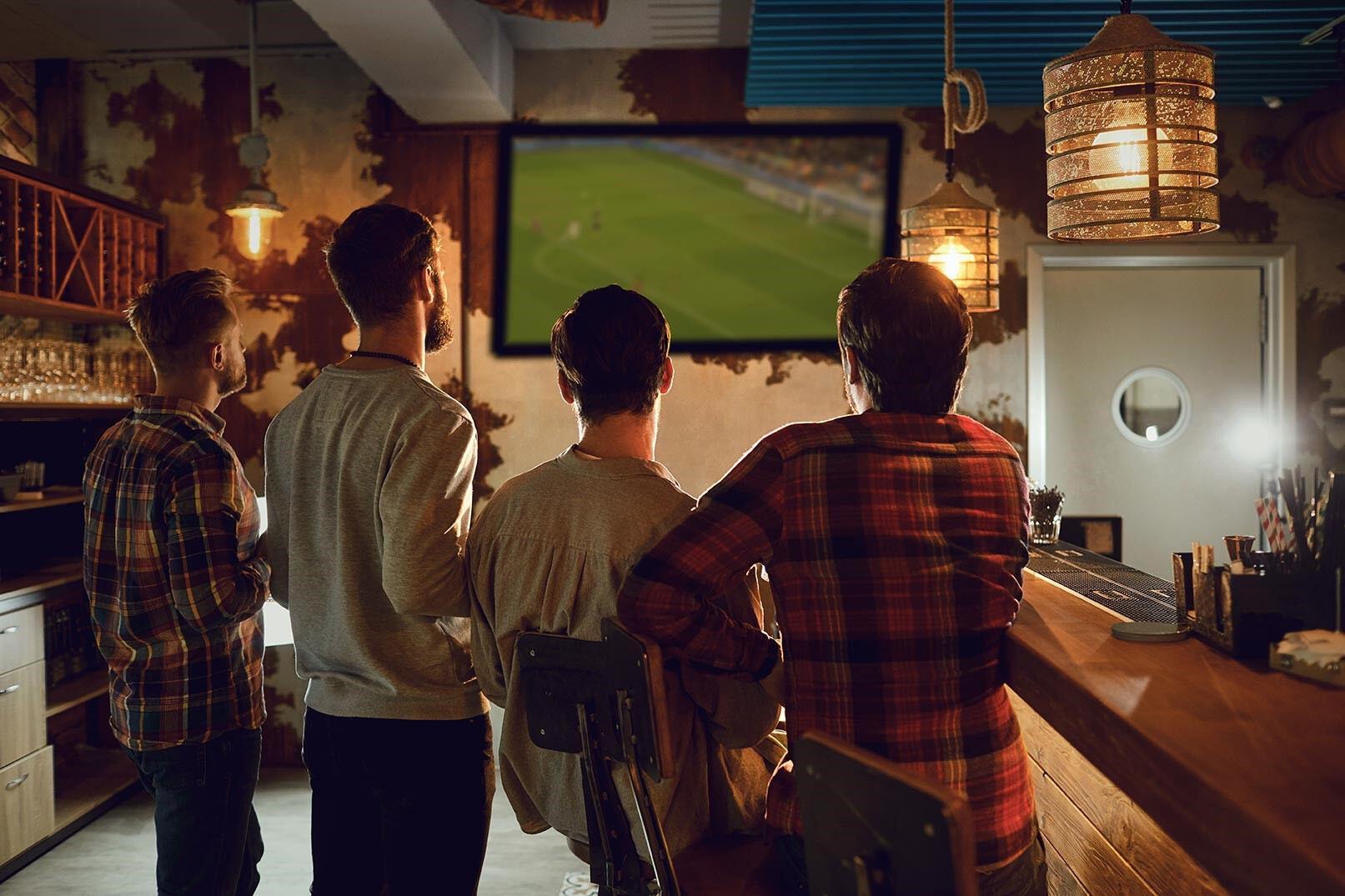 Fútbol en bares