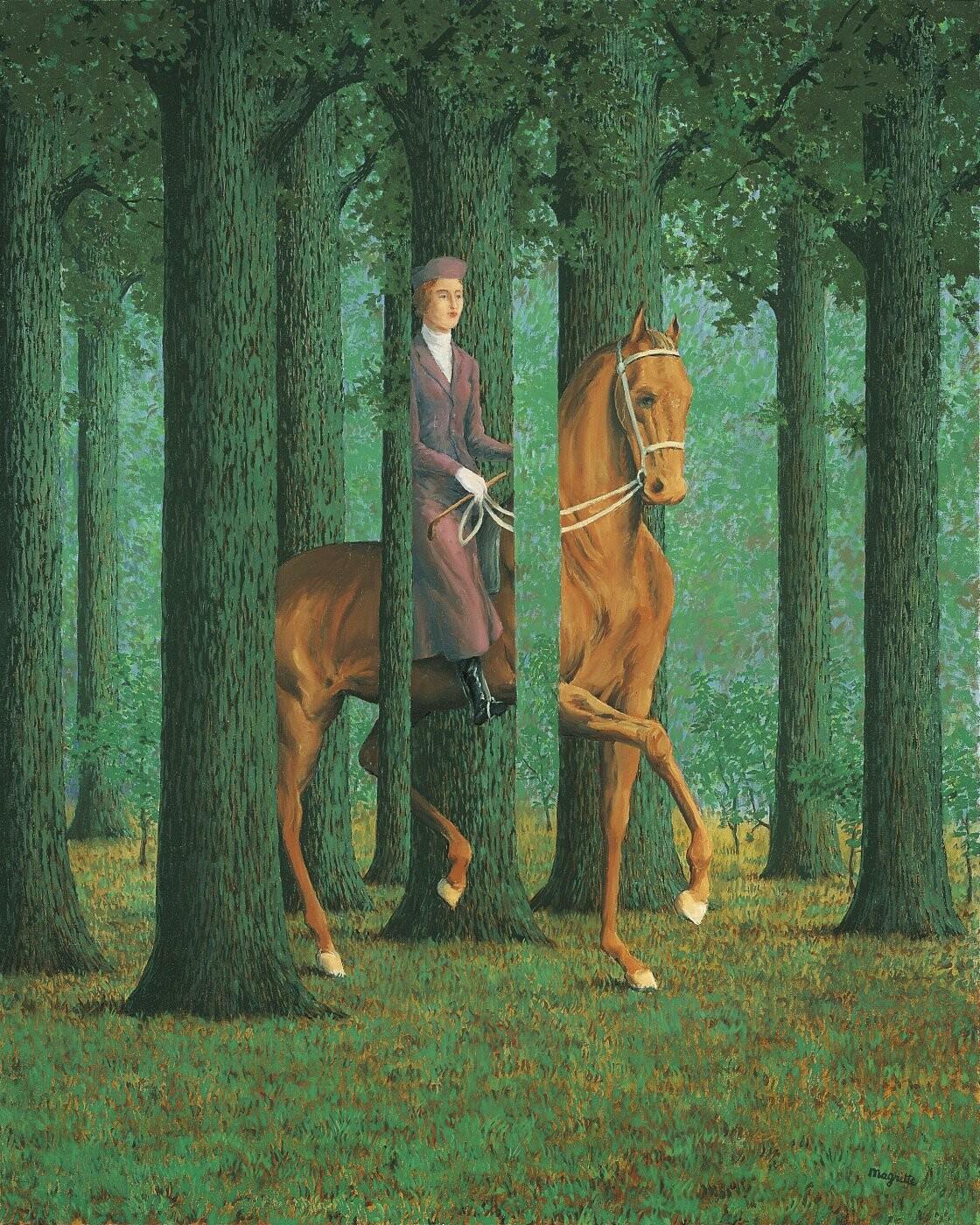 La firma en blanco, 1965.. Magritte