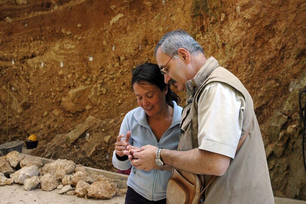 con María Martinón en Atapuerca