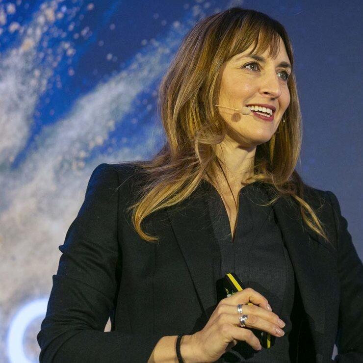 Eva Villaver en una presentación