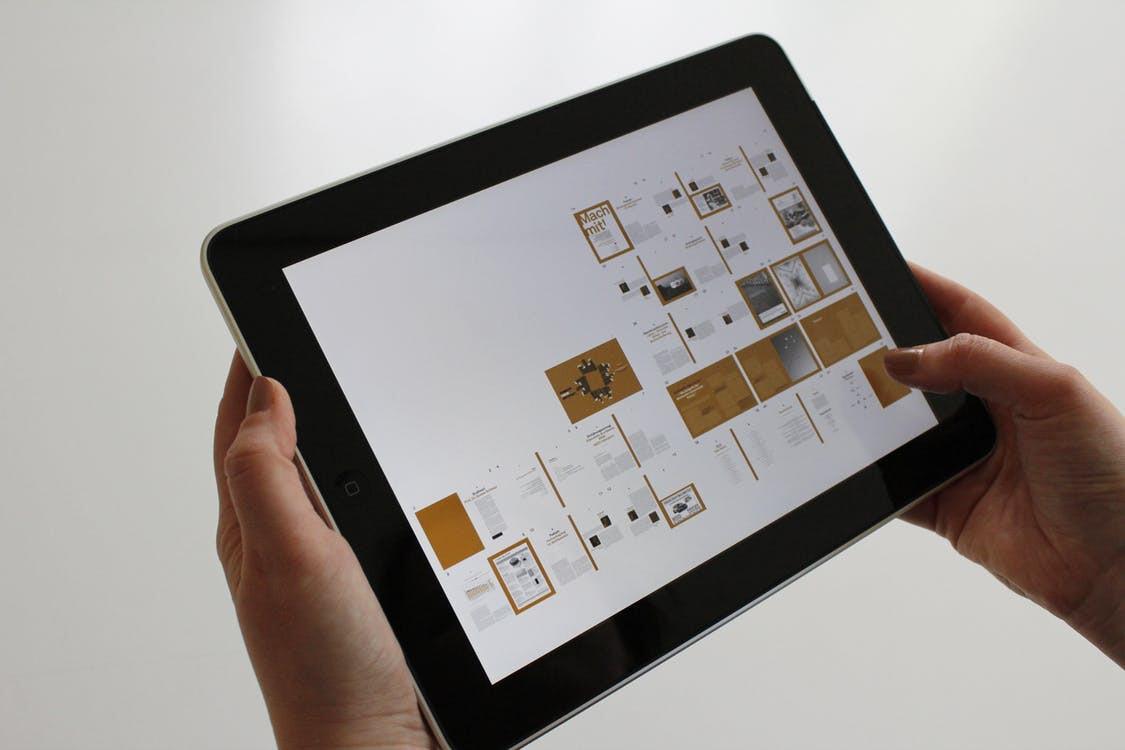 iPad aplicación diseño