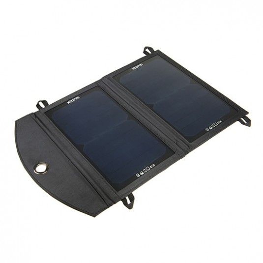 Cargador solar plegable