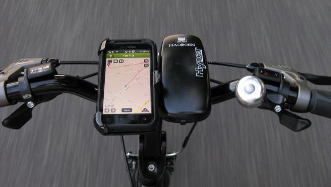 Smartphone como navegador en la bici
