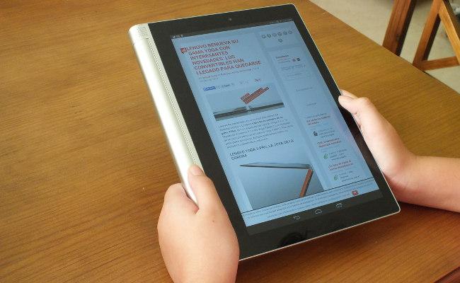 Lenovo Yoga Tablet 2 modo lectura