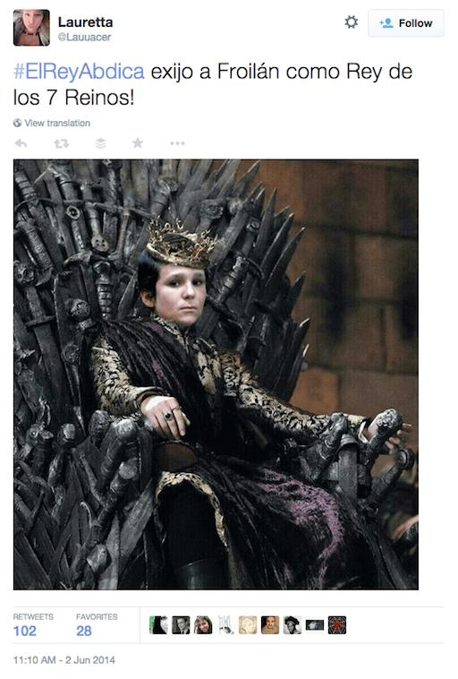 El rey abdica