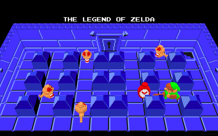 3_D_LOZ_scene__Dungeon_2_Ropes_by_NES__still_the_best