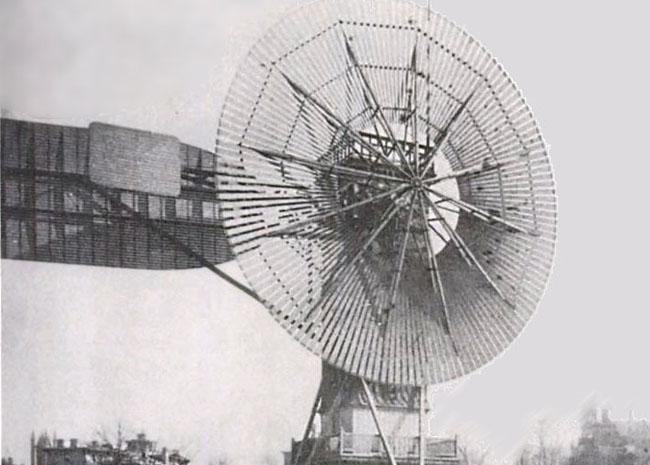 La turbina eólica de Charles Brush.
