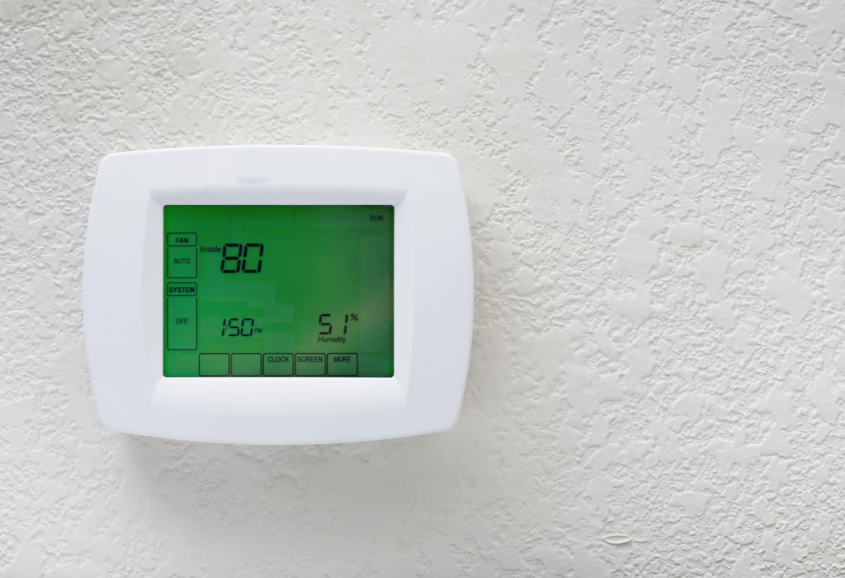 Modern programmable thermostat-energy saving unit