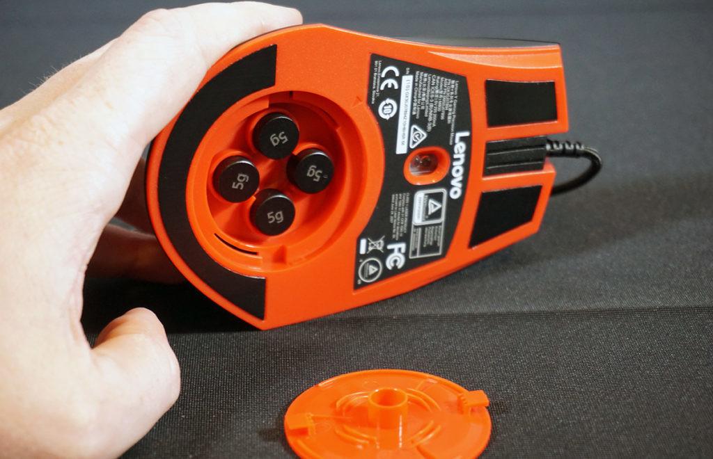 Modelo para Gaming con DPI ajustable gracias a sus 4 pesas de 5 gramos