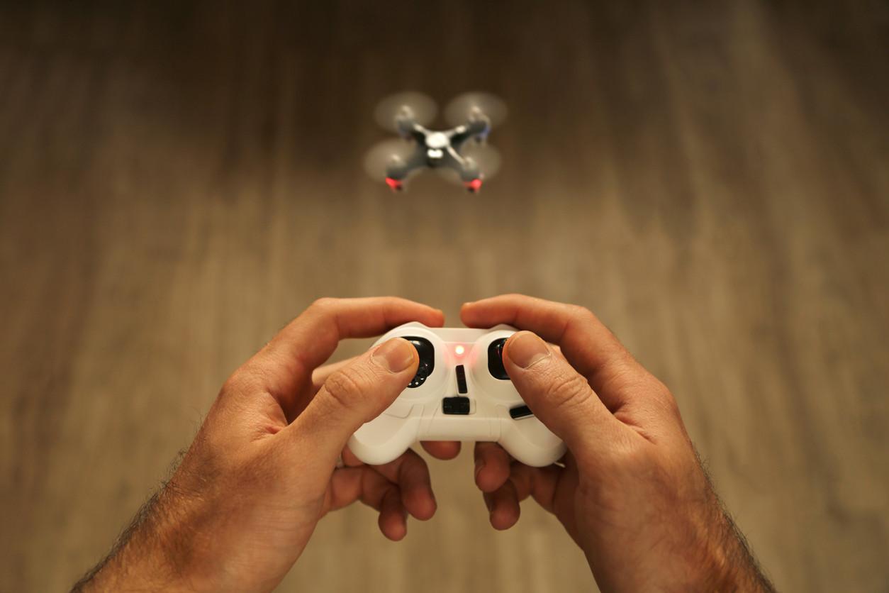 el dron en casa