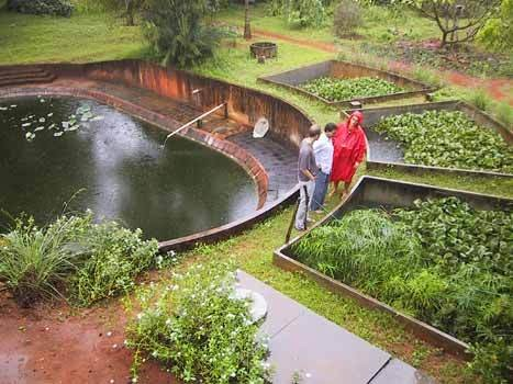 dewats tratamiento descentralizado de agua en auroville