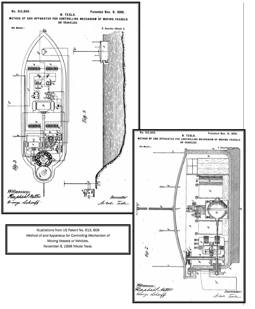 patente dron nikola tesla