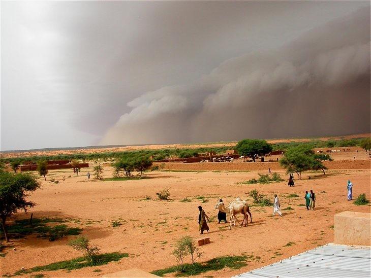 tormenta en el sahel