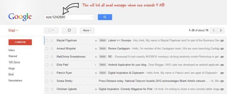 Cómo borrar todos los emails de mayor tamaño en Gmail y recuperar el espacio