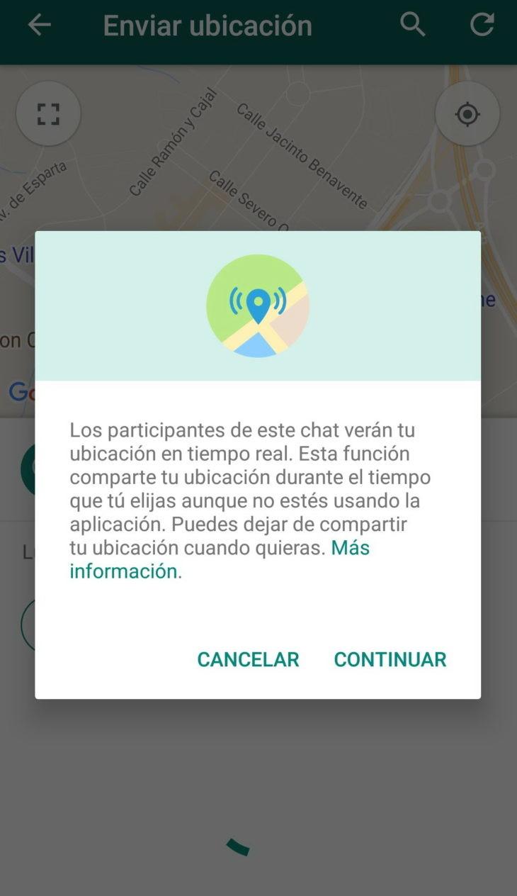 WhatsApp: cómo compartir nuestra ubicación en tiempo real