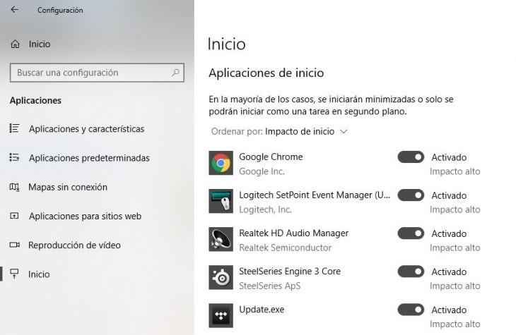 Cómo administrar los programas de inicio en Windows 10