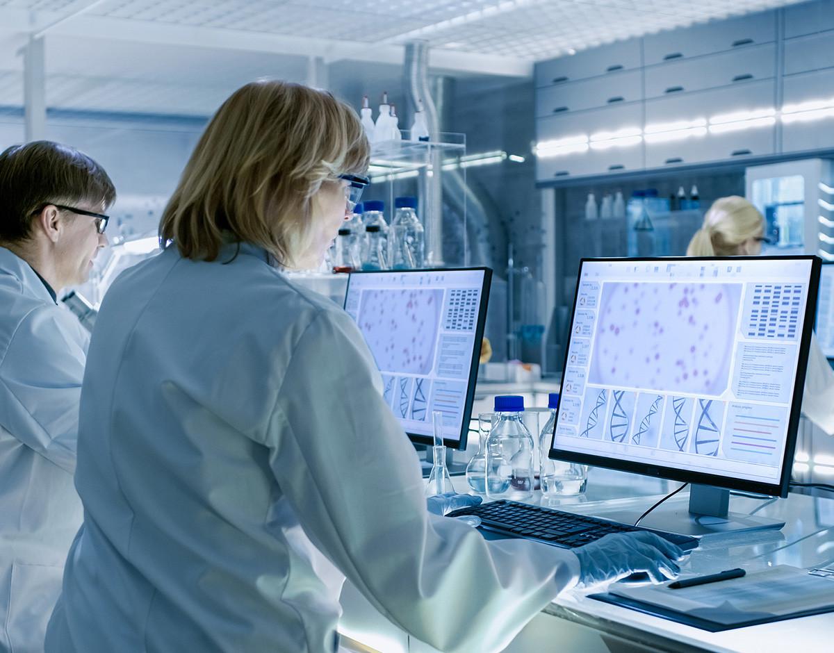 inteligencia artificial plegar proteinas AlphaFold laboratorio