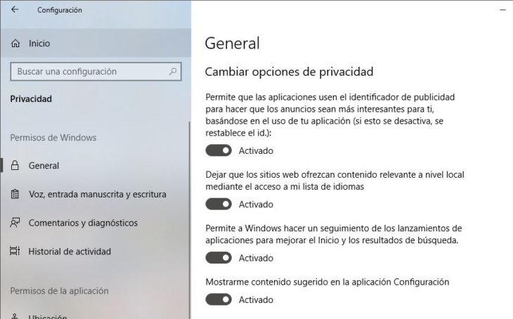 5 ajustes de privacidad que debes cambiar en Windows 10