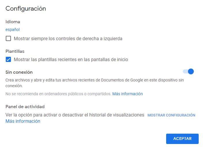 Cómo utilizar Google Docs sin conexión