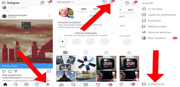 Cómo cambiar entre cuentas de Instagram