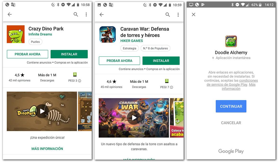 aplicaciones instantaneas probar apps sin bajarlas