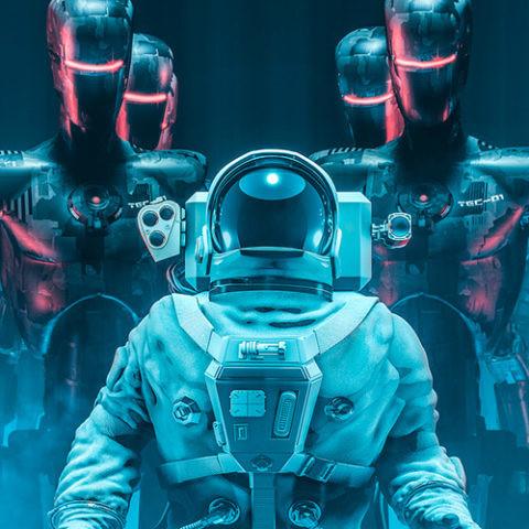 astronautas espacio robots colonizacion
