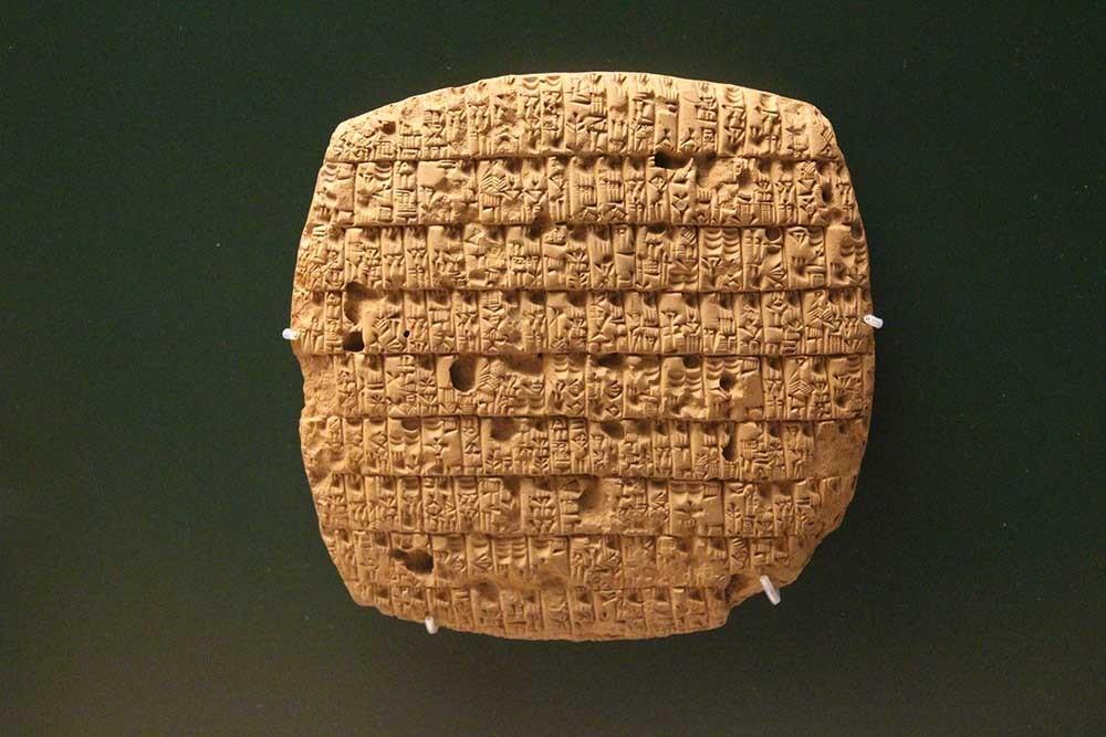 origen del lenguaje tablilla sumeria