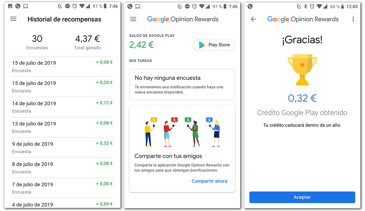 google rewards pagos