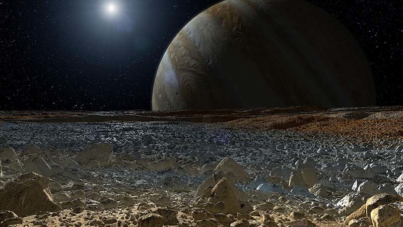 Europa, la luna helada de Júpiter