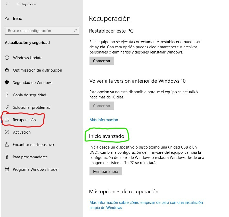 eliminar archivos en Windows 10