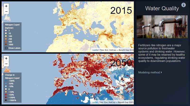 mapa de riesgos por acceso a agua potable