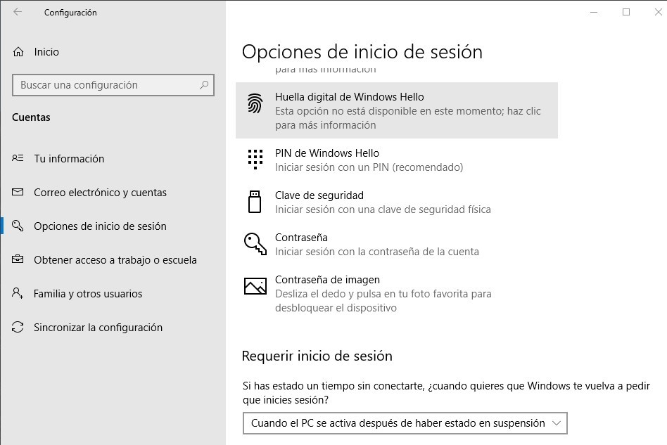 configurar Windows 10