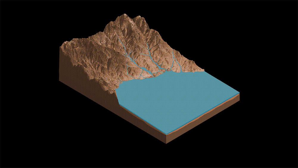 el lado de agua líquida en Marte